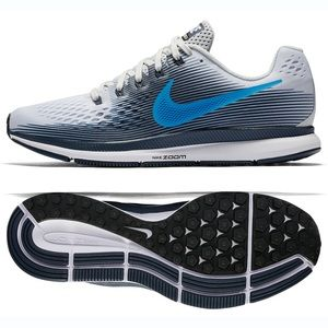 NWB Nike Air Zoom Pegasus Mens Grey/Blue  sz 10.5